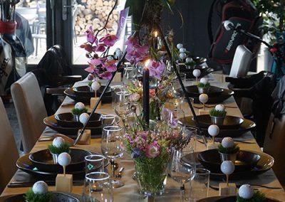 ExcellenZ Quality Catering op locatie golfclub diner food tafel